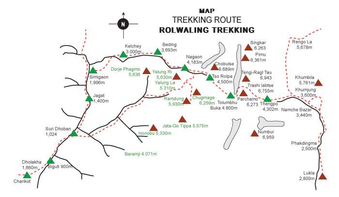 Rowaling trekking map