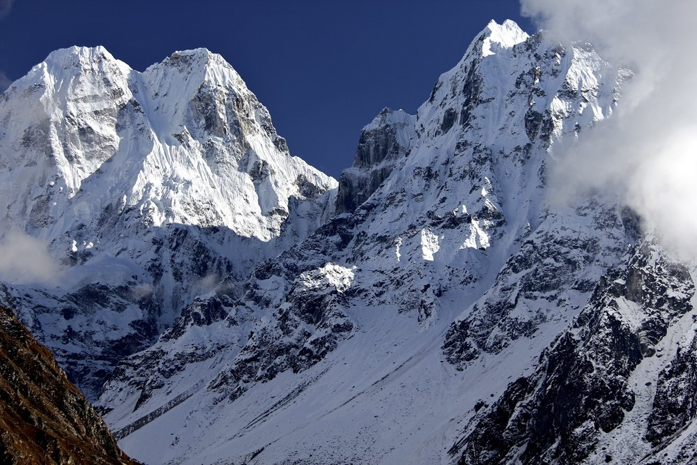 From left: Sobi Thongje 6,670, Pholesobi Thonje 6,645m and Temachungi 6,044m