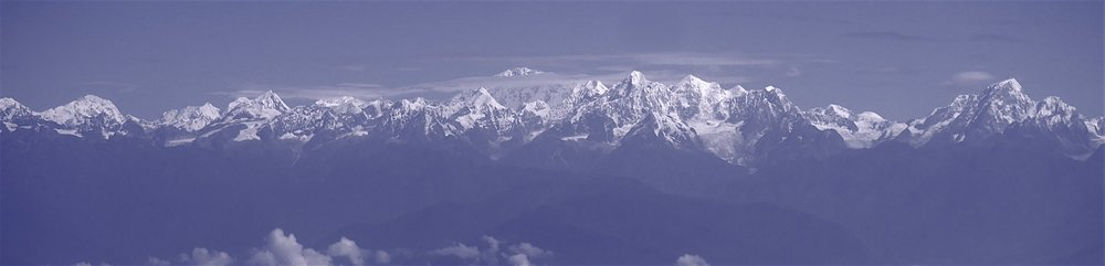 The Langtang Range with Mt. Shishapangma dominating the skyline.