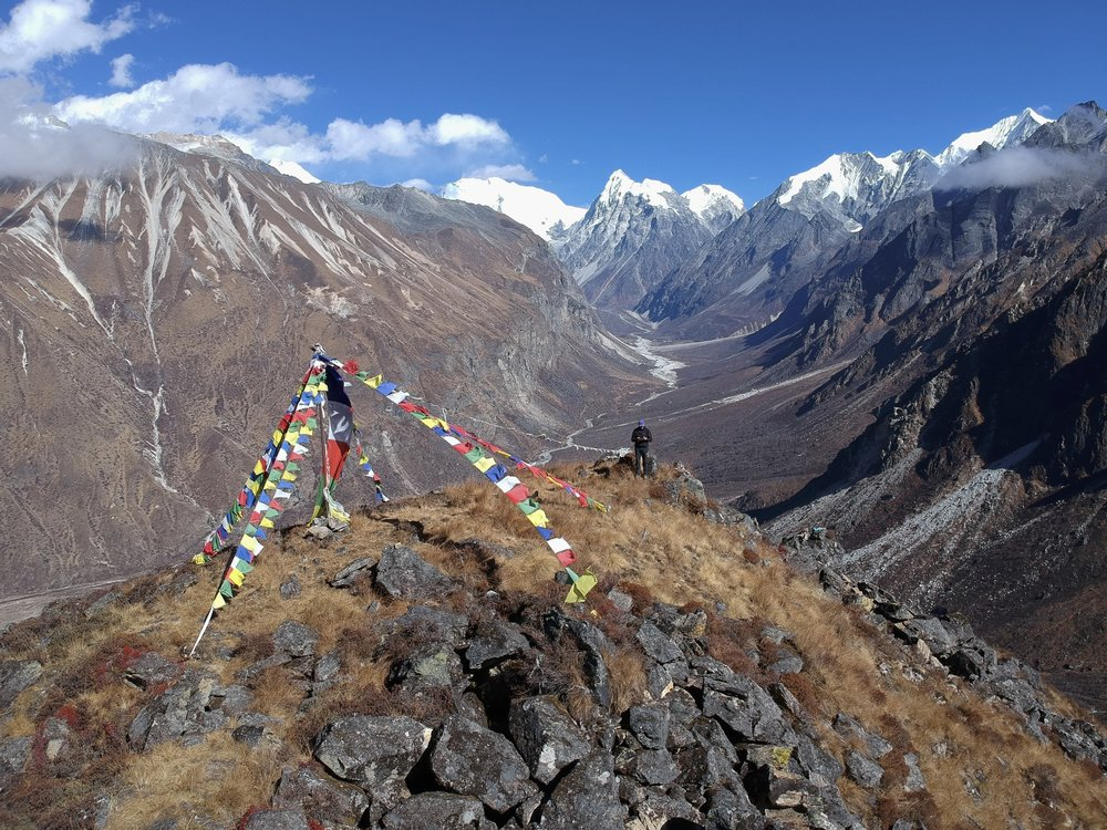 Looking up the Langtang Valley.