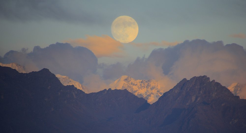 Moonrise over TIbet