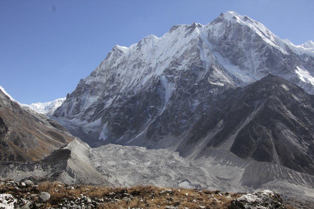 Langshisa Ri's north aspect from the Langtang Glacier