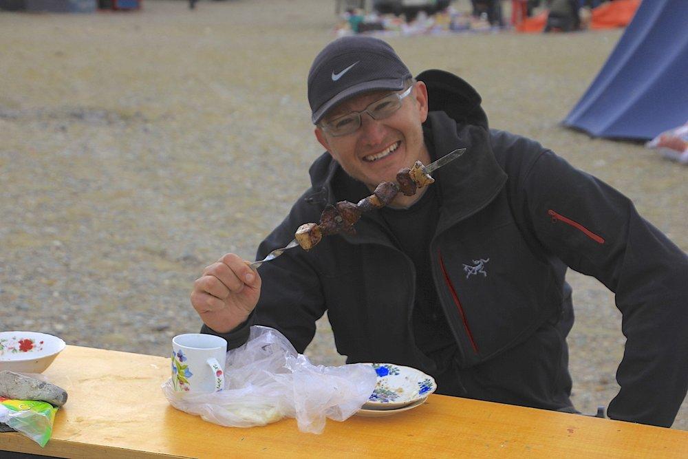 The best shashlyk in Mongolia