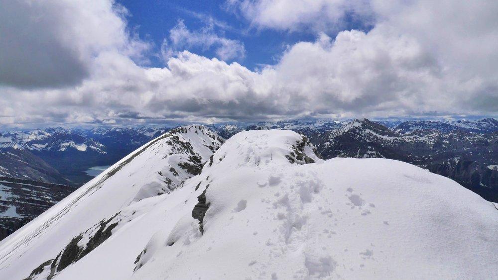 The summit of Mt. Lougheed 3,107m