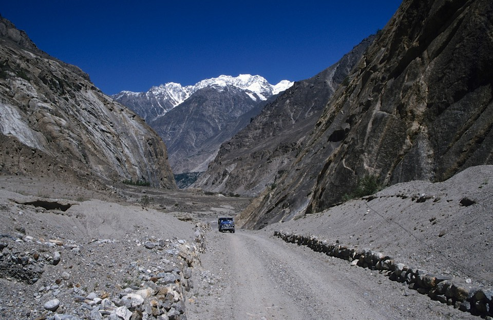 The road from Skardu to Askole