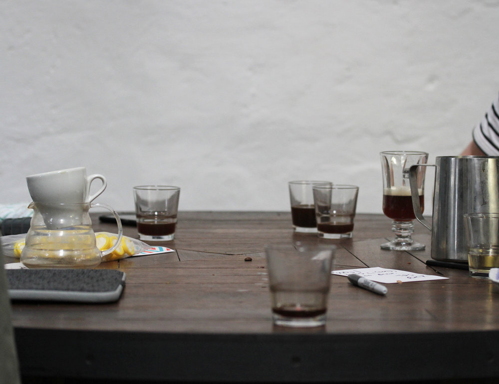 Cupping - Weekly tasting (and spitting) to make sure you're getting the best extraction from each and every bean!