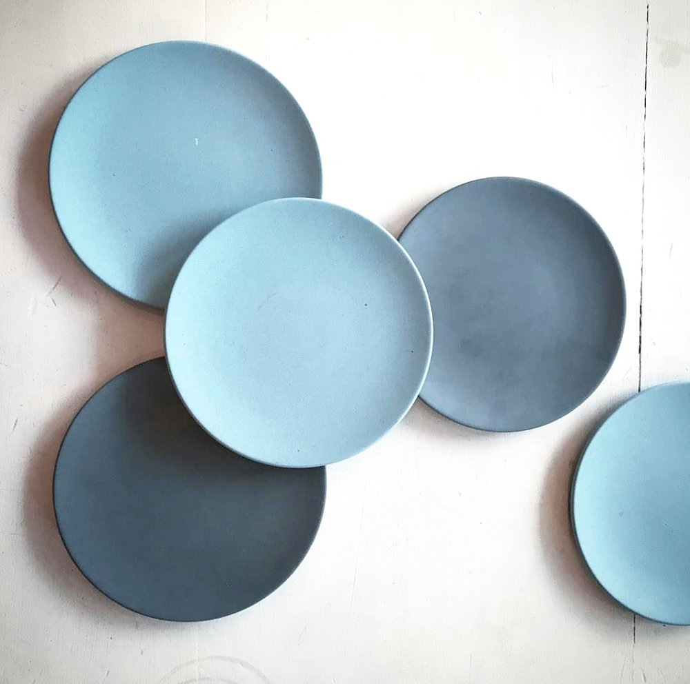 "SUSTAINABLE BEAUTY  Do yourself a favour and order a treat next time you're in so you can check out these environmentally friendly bamboo plates from  Eco Impact . We love the planet and all, but these guys had us at ""multiple shades of blue."""