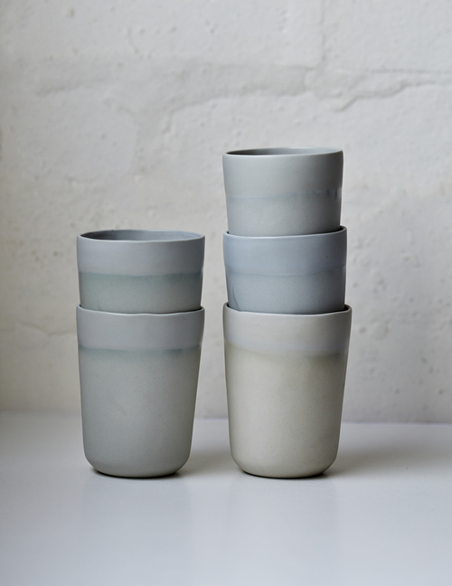 Beautiful coffee deserves a beautiful vessel, like these stunning handmade porcelain mugs from  Studio Enti  that we can't stop frothing over.