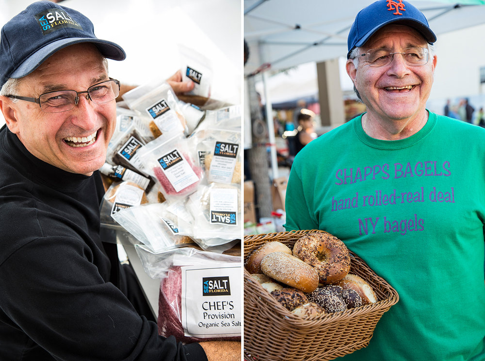 The Salt man and the Bagel Man from the Farmer's Market