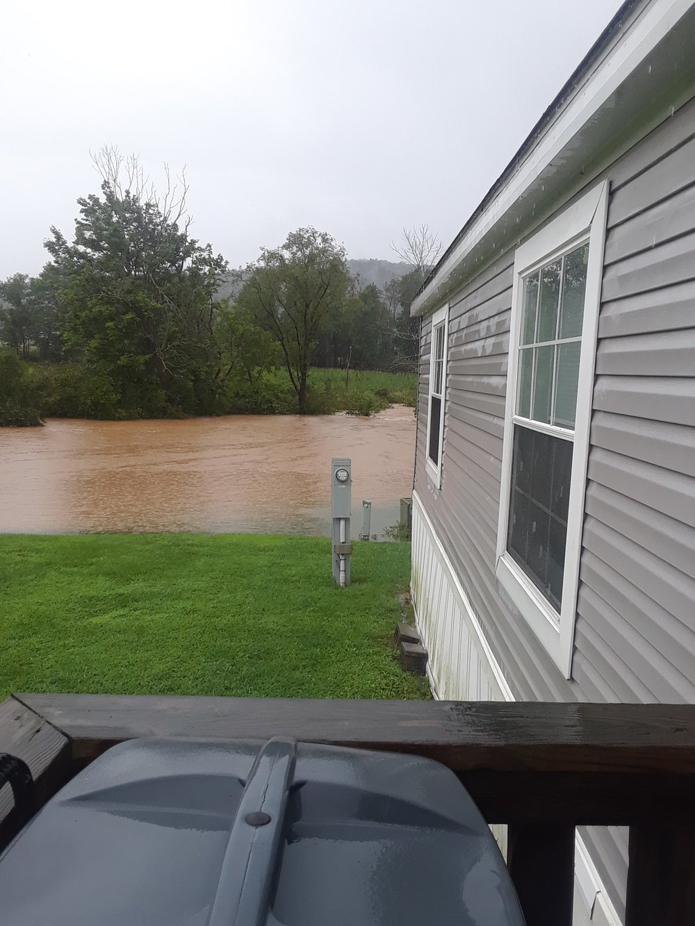 Flooding on West Briar Creek on Monday Morning - courtesy of carla matthews