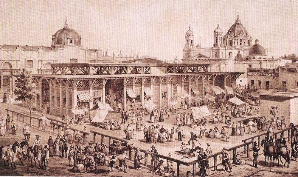 el Mercado San Juan como se veia durante la época colonial