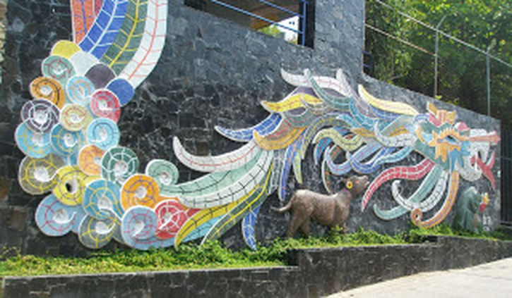 Diego Rivera designed this mural for collector Dolores Olmedo's house in the fifties