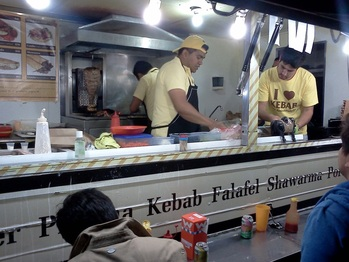 This Purveyor Of Felafel Kebab Sandwiches And Other Permutations Middle Eastern Take Away Is Wildly Popular Often Attracting Crowds
