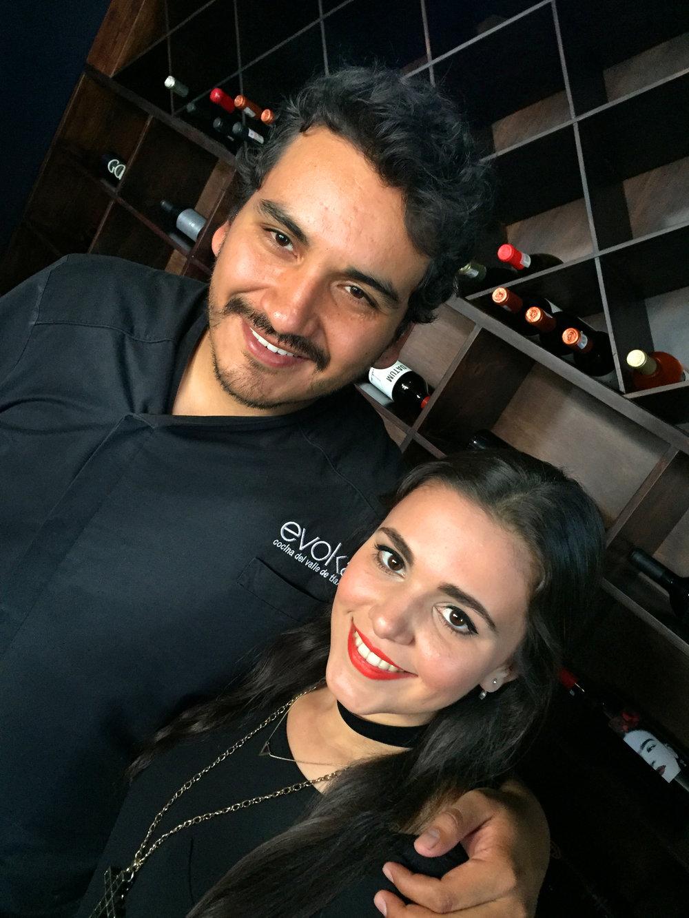 chef Molina and friend
