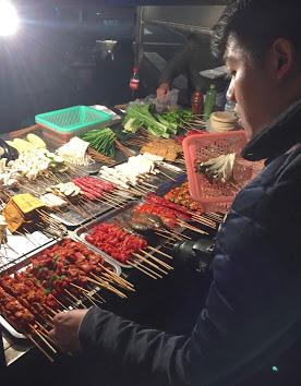 Mercado de noche, Chengdu