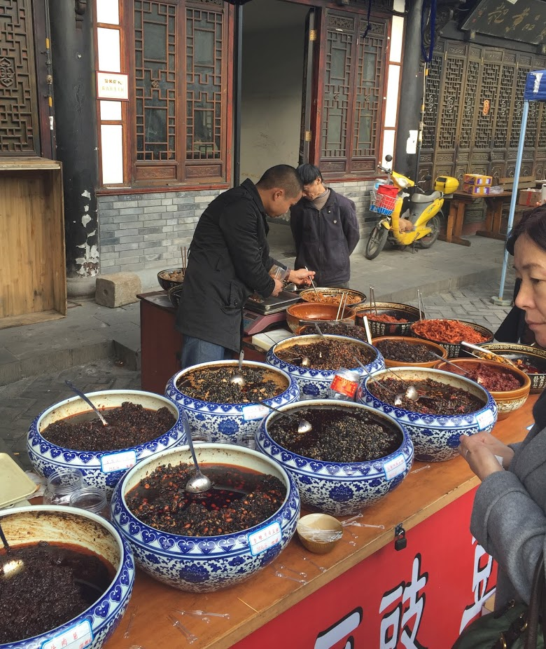 """a """"sauce"""" vendor, Chengdu"""