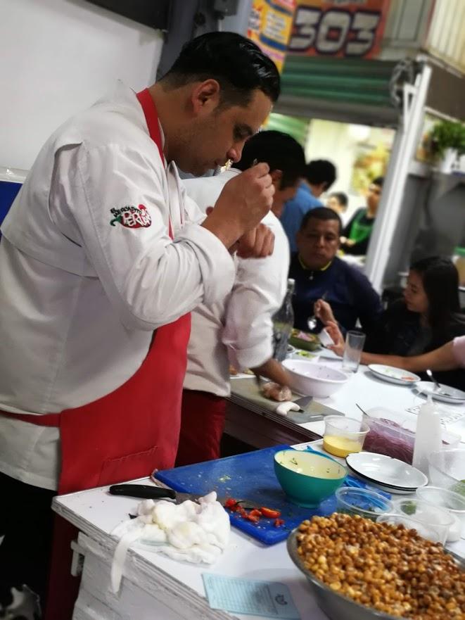 Chef Miguel Cabrera at work