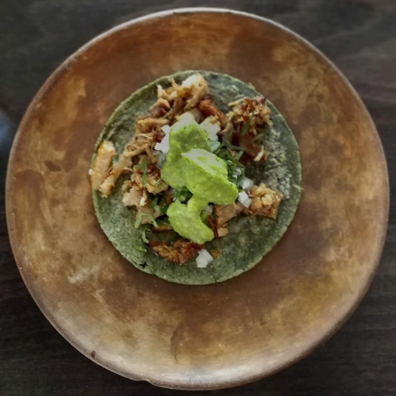 """A taco """"nice"""" of confit de pato at Cha Cha"""
