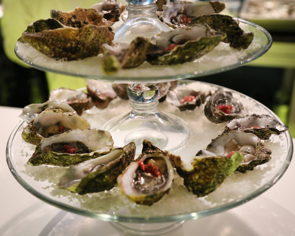 Oysters at  Sargazo , Mexico's purveyor of high end seafood from Baja California