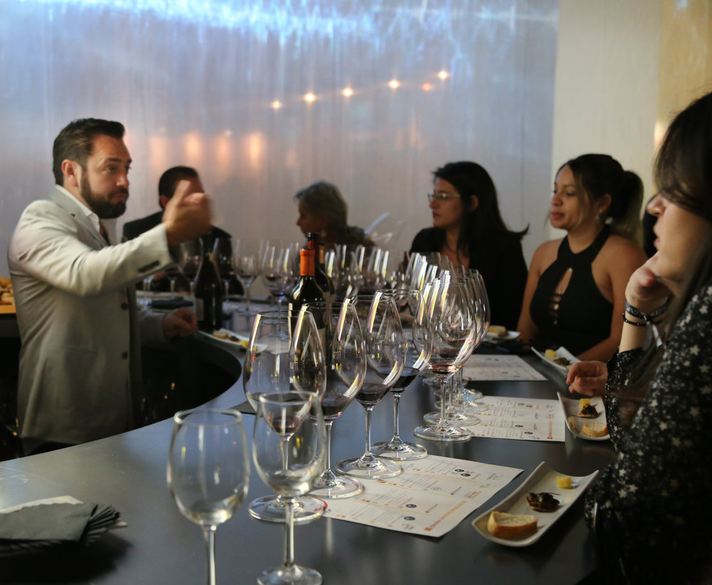 Sommelier Andrés Amor led casual, friendly wine tastings
