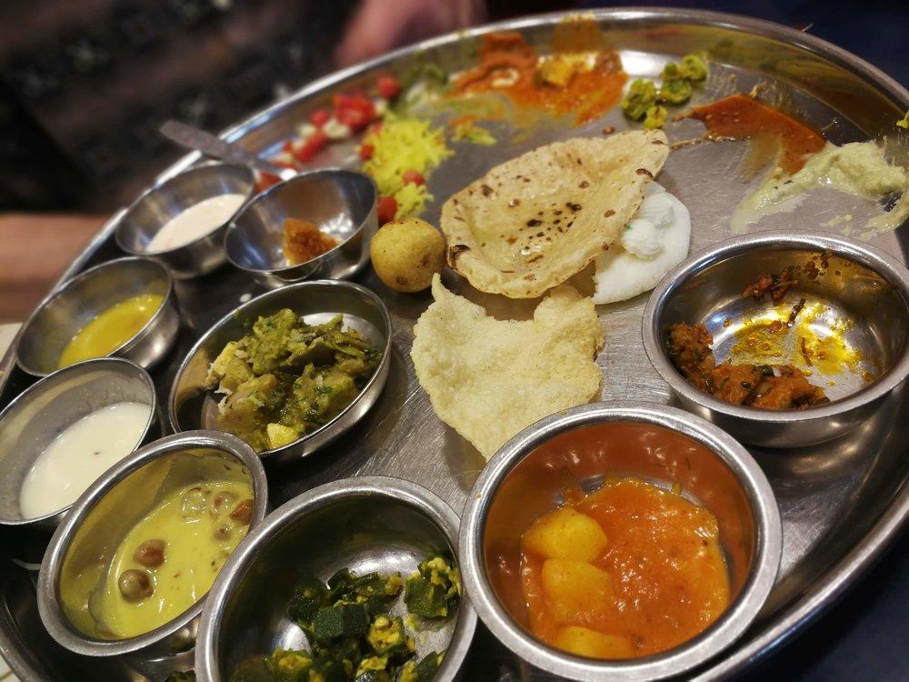 The Amazing thali at Shree Thaker