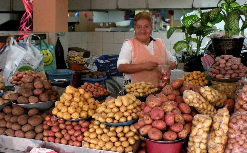 As in Peru, Ecuador offers myriad varieties of potatoes