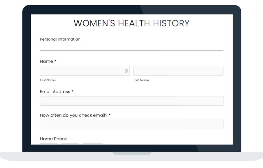 Digital Forms - Rather than wait on snail mail, clients can now complete their health history form online and submit it straight to Alexandra's inbox.