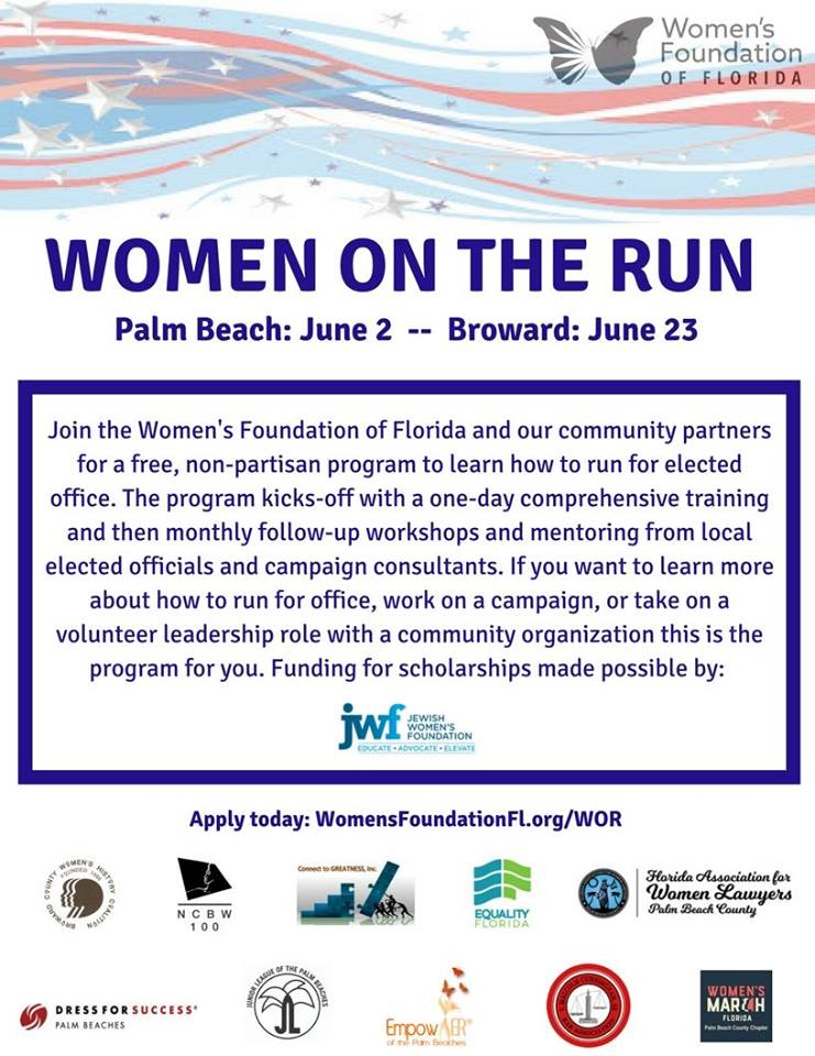 6-23-18: Women on the Run - Broward - We are proud to be partnering with Women's Foundation Florida for this very important event!