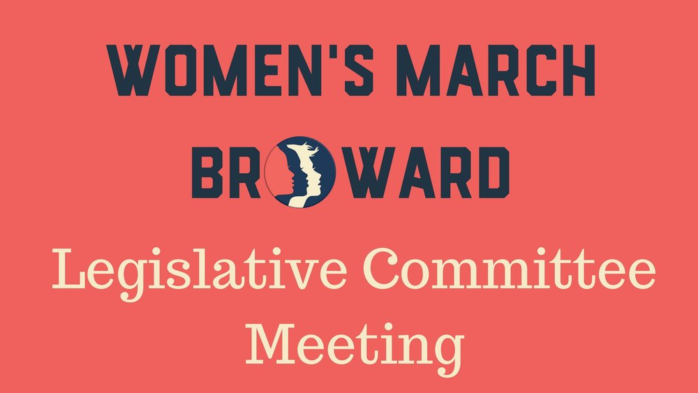 5-16-18: Legislative Committee Meeting - Please join the Legislative Committee to discuss how we will work together to prepare for the Elections and tracking legislation in the future. The Legislative Committee works to track legislation affecting Broward County and the State. We will discuss how to create forums to keep people informed on them and how to track and