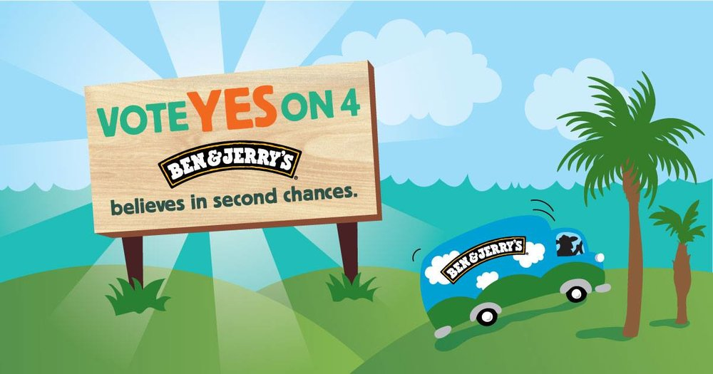 10-25-18: Yes on 4 Early Voting Ice Cream Social: Lauderdale Lakes - Are you ready to make history and get FREE Ben & Jerry's ice cream? Right now, we have the power to end 150 years of a broken system by voting #YesOn4 on behalf of 1.4 million Floridians who've earned a second chance - the largest expansion in voting access since the Voting Rights Act. After years of working towards this goal, the moment we've been waiting for has arrived - it's time to Get-Out-The-Vote for Those Who Can't.Join Second Chances FL and Ben & Jerry's for a Yes on 4 Early Voting Ice Cream Social! We'll be educating people about Amendment 4, encouraging people to vote #Yeson4 by visiting the closest polling location to vote early, and of course celebrating with delicious FREE Ben & Jerry's ice cream! (Non-Dairy/Vegan Options Available).Join us as we Get Out The Vote on behalf of the 1.4 million Floridians who've served their time, paid their debts and still can't vote. Remember, it's a celebration for restoration - so bring everyone you know!—RSVP HERE (so we make sure to bring enough ice cream!): https://tinyurl.com/y8c46hxc