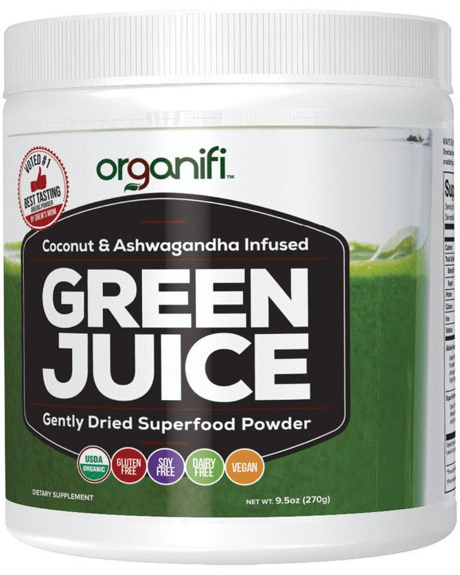 Green Juice Label Front