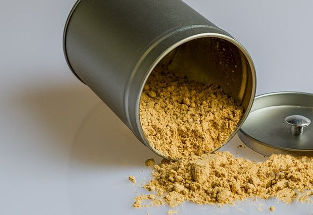 Powdered Ashwagandha in a Spice Can