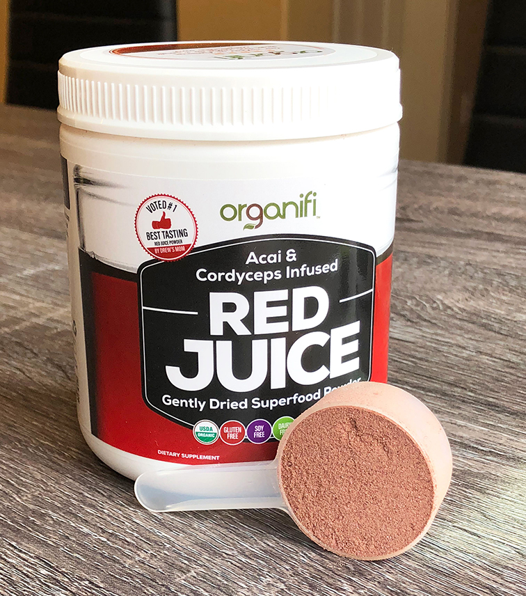 Red Juice Tub with Scoop