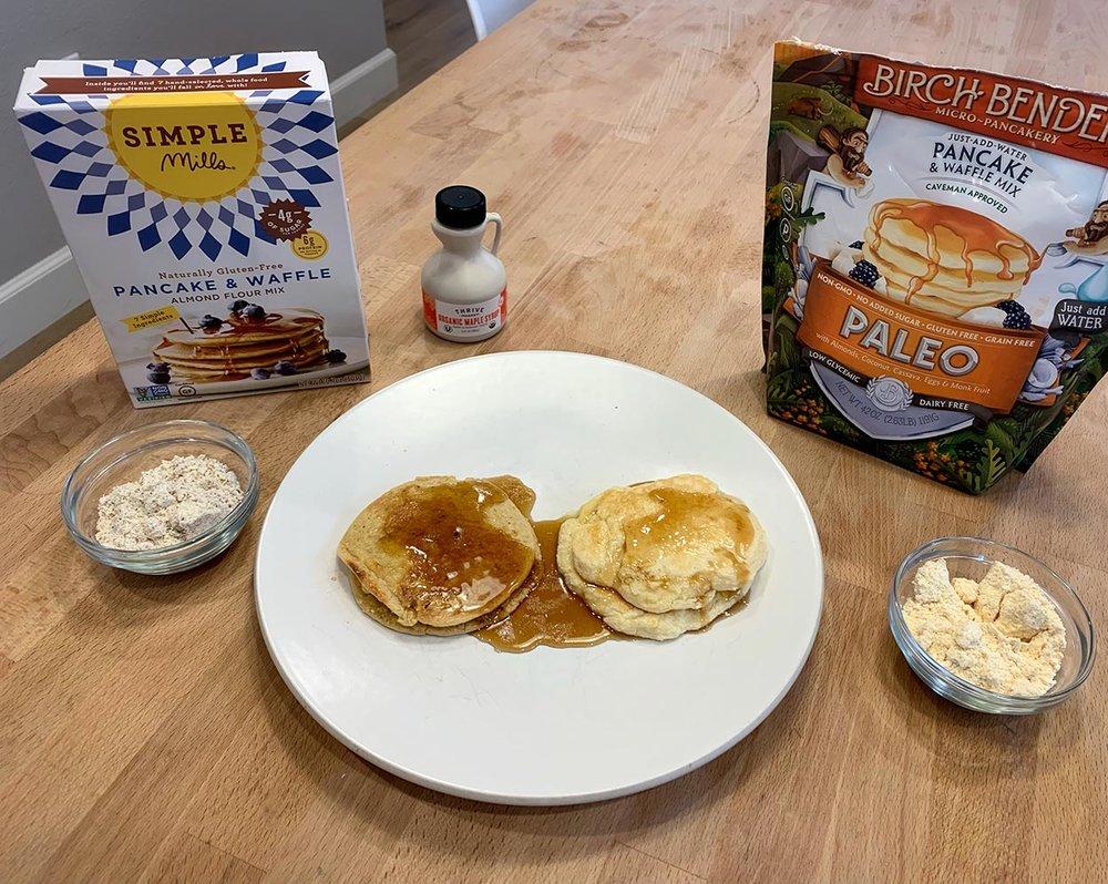 Cooked Birch Benders Pancakes vs Simple Mills Pancakes
