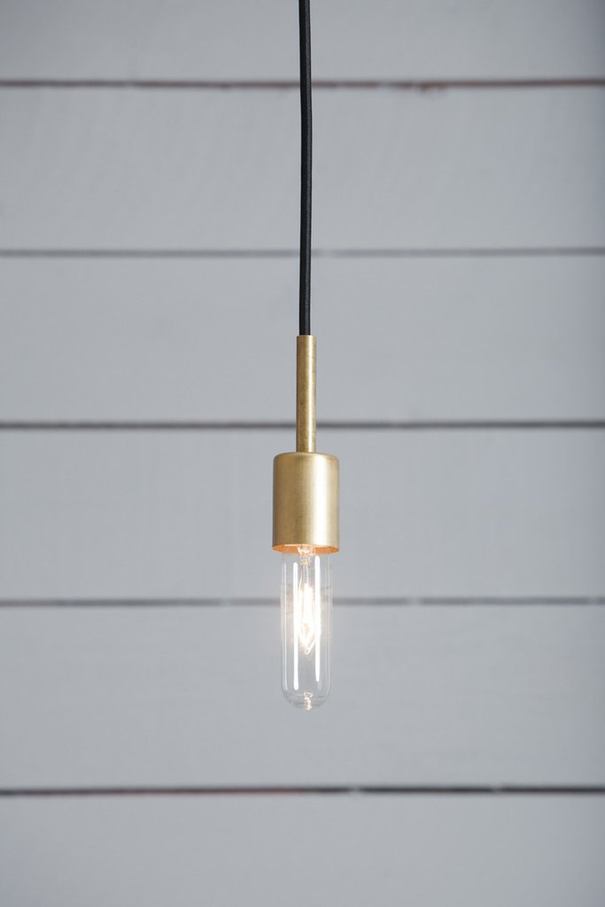 Industrial Lighting //  Brass Pendant Light