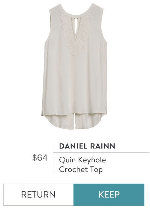 Daniel Rainn Quin Keyhole Crochet Top | Stitch Fix Review | Project Managing Mama