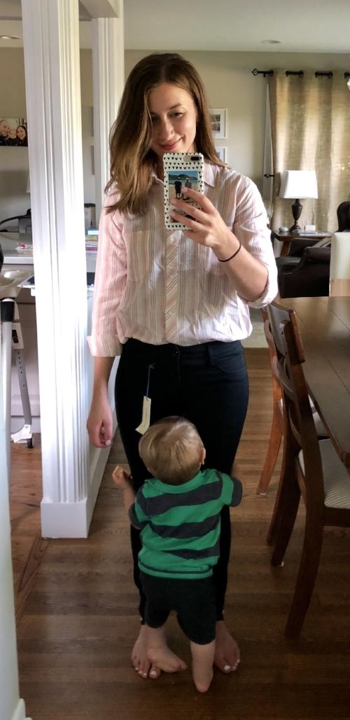 Elan Nasya Button Down Top | Stitch Fix Review | Project Managing Mama