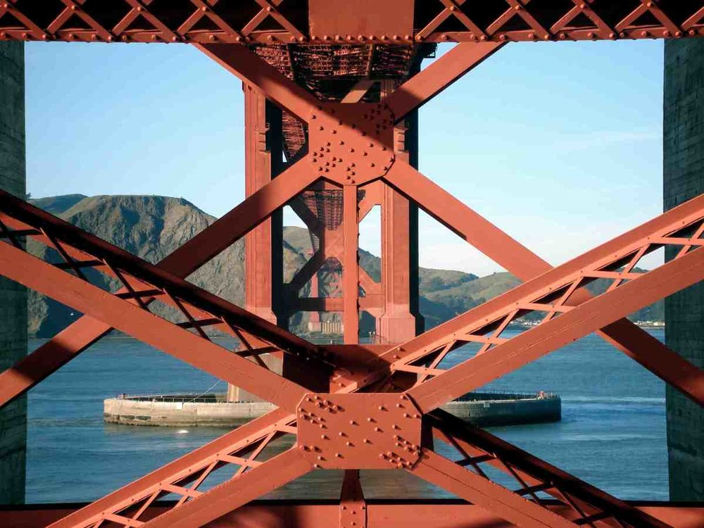 Golden Gate underside