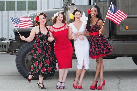 Army, USN, USAF and USMC Veterans Styled as Pin-Ups for Pin-Ups for Vets