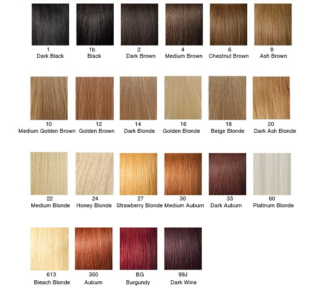 Hair Color Chart Weaveeasy