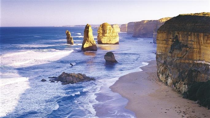 Two Day Great Ocean Road and Phillip Island tour - On day one travel through Victoria's second largest city Geelong and Victoria's prime agricultural land. See the spectacular 12 Apostles and hear the tragic story of the Loch Ard shipwreck, take in the luscious surrounds of the Otway Rainforest and look for koalas and native birds in the wild.