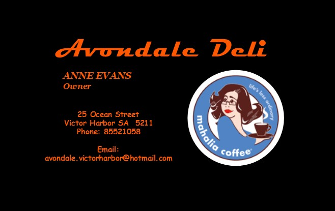 Avondale Deli - 7 Days - Breakfast & LunchServing old fashioned brunches the whole family can enjoy - vegan, gluten free or your standard I'll-eat-anything's!25 Ocean St(08) 8552 1058