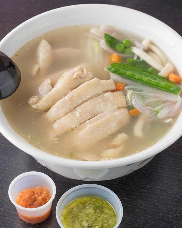 Perfect weather for some Hainan Chicken Noodle Soup 🤤☔️🍜