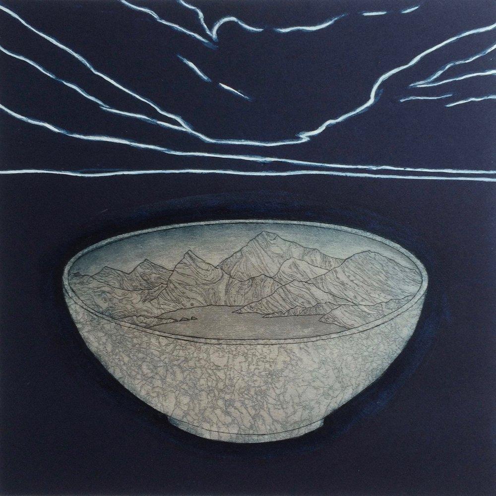 Towards Morning , etching