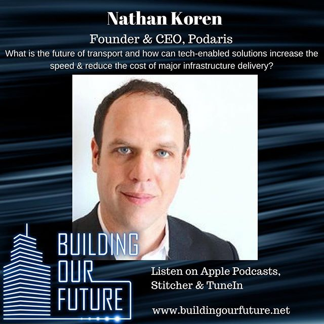 I'm joined by Nathan Koren to discuss the future of transport and delivering infrastructure projects #infrastructure #futurism #buildingourfuture #propertypodcast #proptechpodcast #bigdata #autonomousvehicles #proptech #plantech