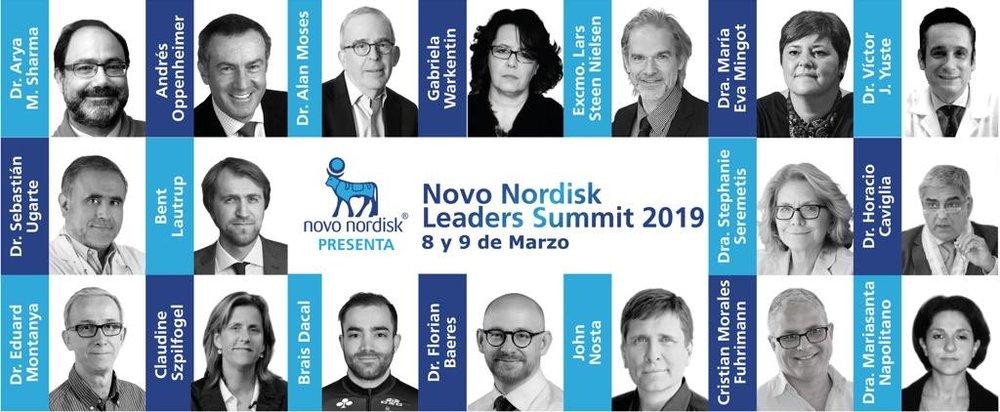 El panel de participantes del Novo Nordisk Leaders Summit 2019 en México.
