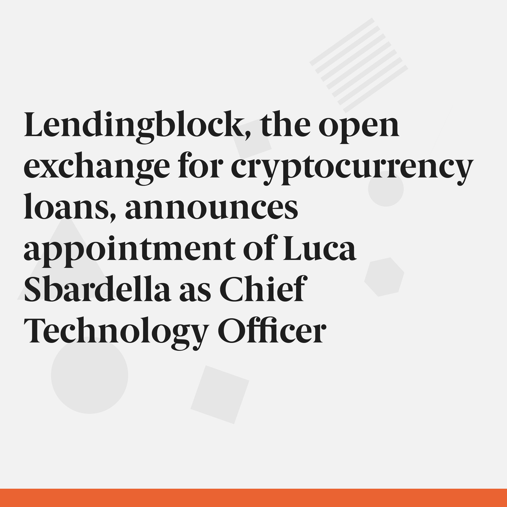 Company introducing securities lending to the crypto world adds further weight to its experienced management team ahead of IC