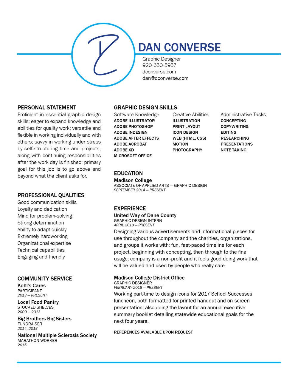 Resume — Dan Converse