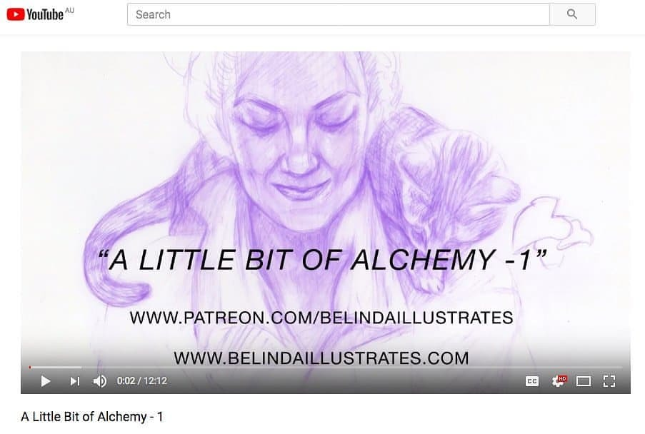 """Just uploaded my latest watercolour painting demo """"A Little Bit of Alchemy"""", this is the first of a handful of videos I'll be posting about my process for this painting, become my patron on my Patreon  https://www.patreon.com/posts/18418144  or subscribe to my Youtube channel to see more  https://youtu.be/VhEYKIu3G5E     #patreon #youtube #artvideo #watercolorpainting #australianartist #melbourneartist #portrait #painting #cac @changelingartist #howto #belindaillustrates #april2018"""