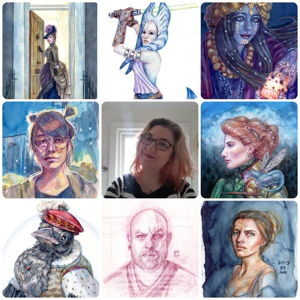 #artvsartist I love colour and painting portraits 😊💜💛💚💙💖    #belindaillustrates #kunst #australianartist #melbourneartist #april2018 #watercolorpainting #illustratorsoninstagram #fantasyillustration
